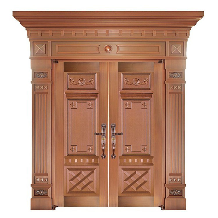 Luxurious Copper Decorative Door For Grand Entrance