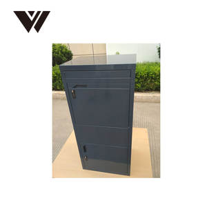 large Outdoor parcel delivery box large drop box for mail letter post and smart metal home