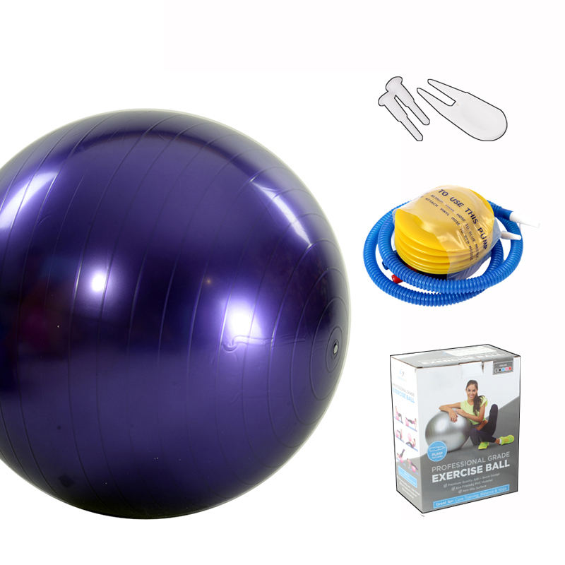 Private Label Sports 65cm Exercise Gym Yoga Ball with Pump