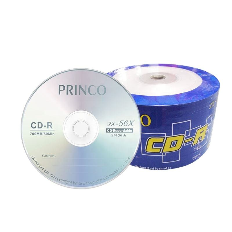 Wholesale factory price 56x blank cds disc princo cd r 80 minute cd-r 700mb cd