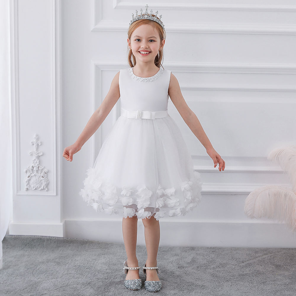 New Design Children Floral Party Gowns Girls Birthday Frocks Vestidos De Ninas L5106