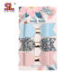 3 pcs per set faux leather glitter hair clip bows for teenage girs