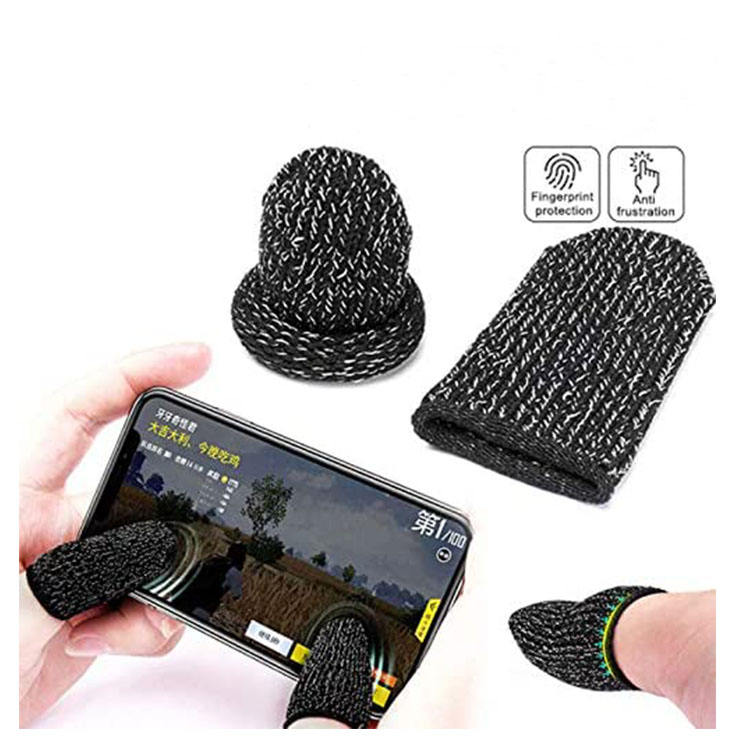 High Quality Cheap Sensitive Mobile Touch Screen Pubg Thumb Sleevs Gloves Finger Cots Touchscreen Cot Ultra-Thin For Adult