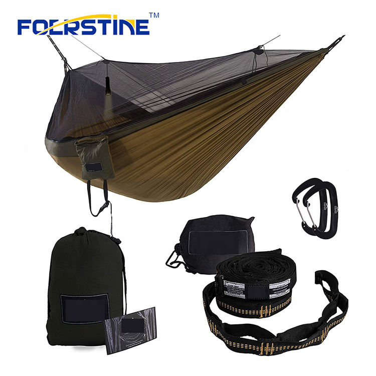 Customized Outdoor Parachute Camping Hammock With Mosquito Net