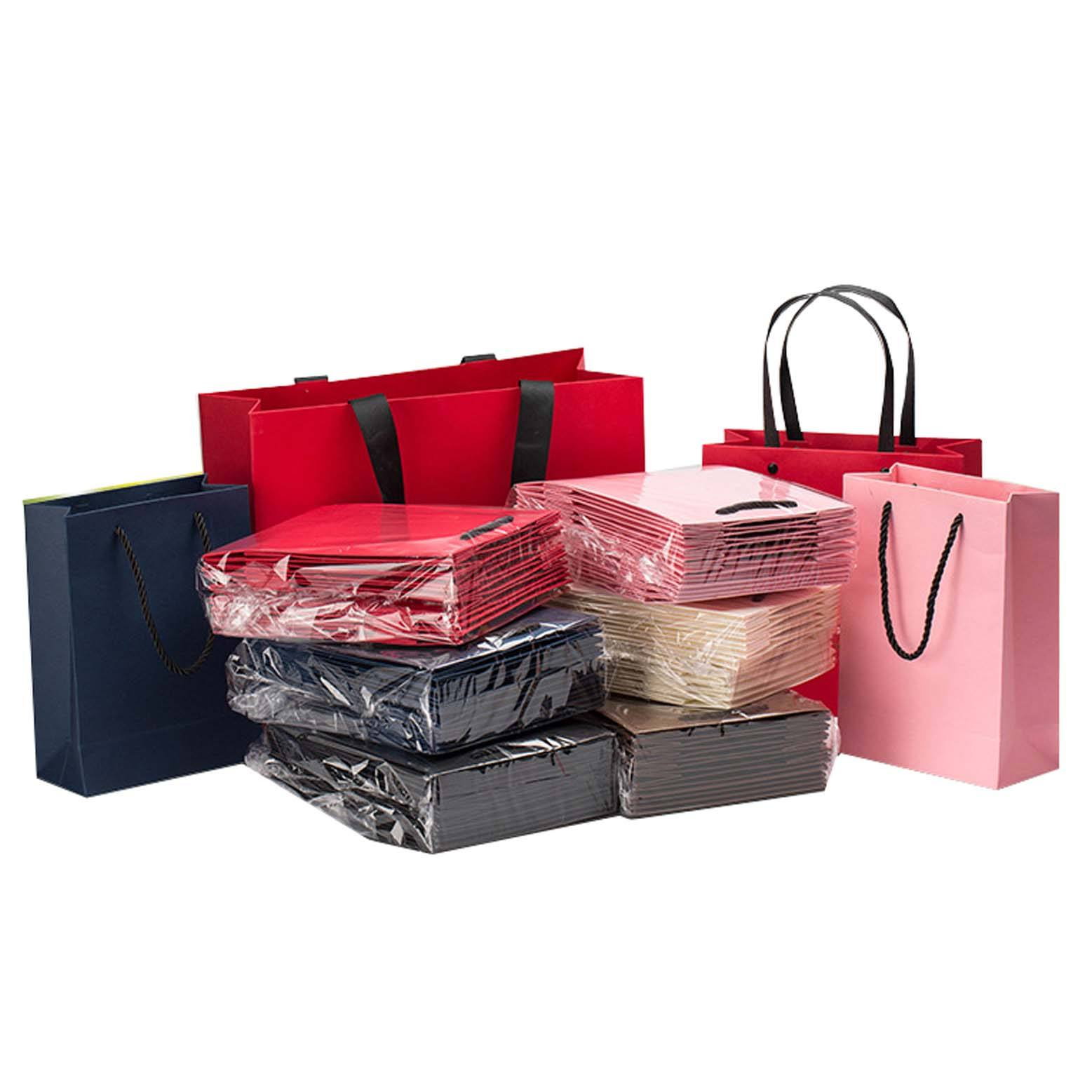 Custom Luxury Bouquet Clothing Shopping Retail Black Paper Bags With Logo Print