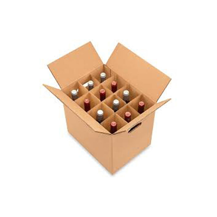 High quality homemade cardboard wine box 12 bottle