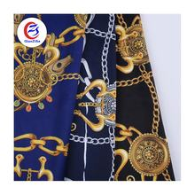 Shaoxing textile satin bubble dress material crepe fabric polyester fabric for scarf