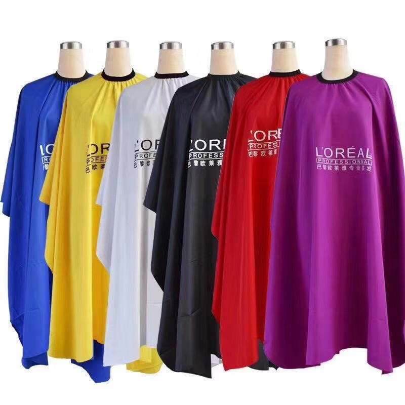 High Quality hairdressing clothes hair Salon Cutting cape factory price 100% polyester barber shop cape