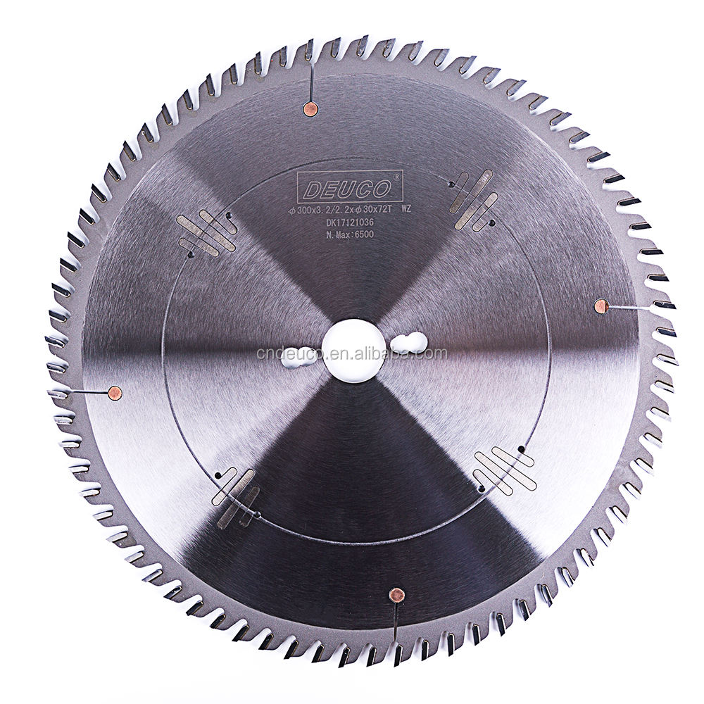 Factory Sale HQ 75CR1 Material 300*72T TCT Circular Saw Blade for Laminate Panel Chipboard MDF Cutting
