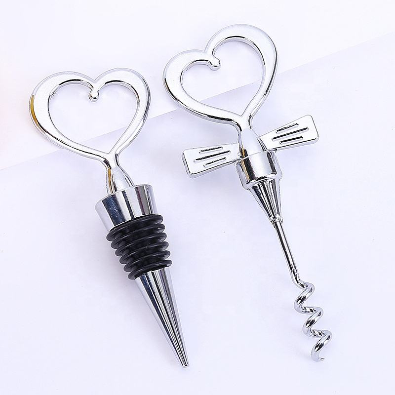 Europe style new party metal heart shape stopper wedding favors for guests