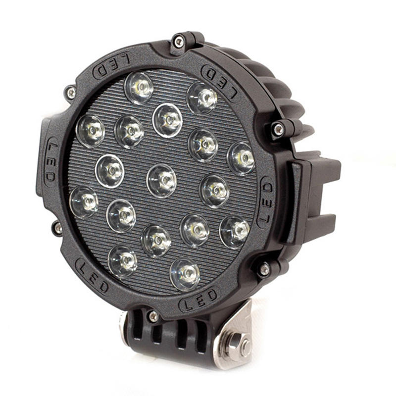 Round shape 7inch 51w LED Work Spot Flood Beam Light