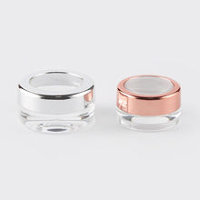 Wholesale PS Plastic Round Empty Cosmetic Jars for sample usage JA-205