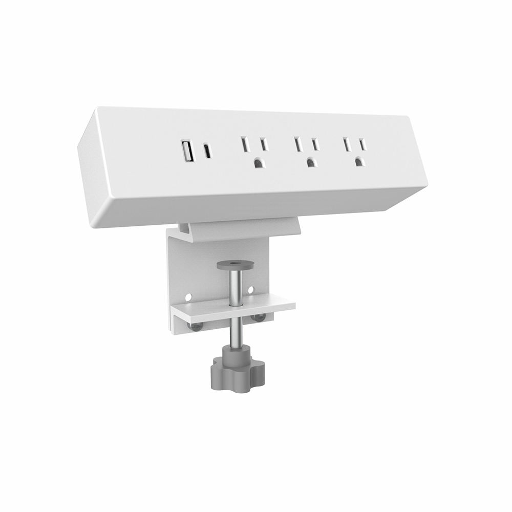 Manufacturer Supply AC Power ETL listed Clamp On Power Socket With USB Connect