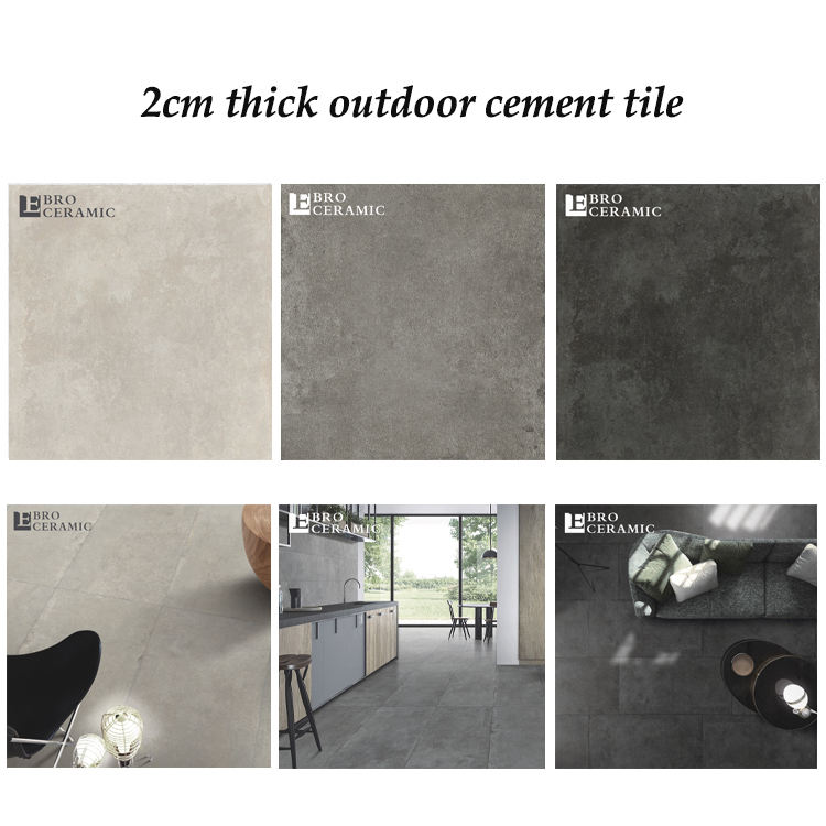 Ebro high quality 20mm outdoor porcelain tile modern ceramic flooring decorative wall tile outdoor