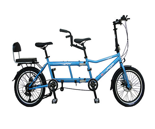 20 Inch Double Folding Bike High carbon Steel Frame Family Bicycle Tandem bicycle