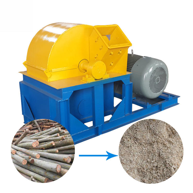 woodworking machinery fine wood powder grinder wood crusher machine