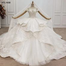 Jancember HTL1430  luxury sleeveless sequin beaded sexy designer real wedding dresses