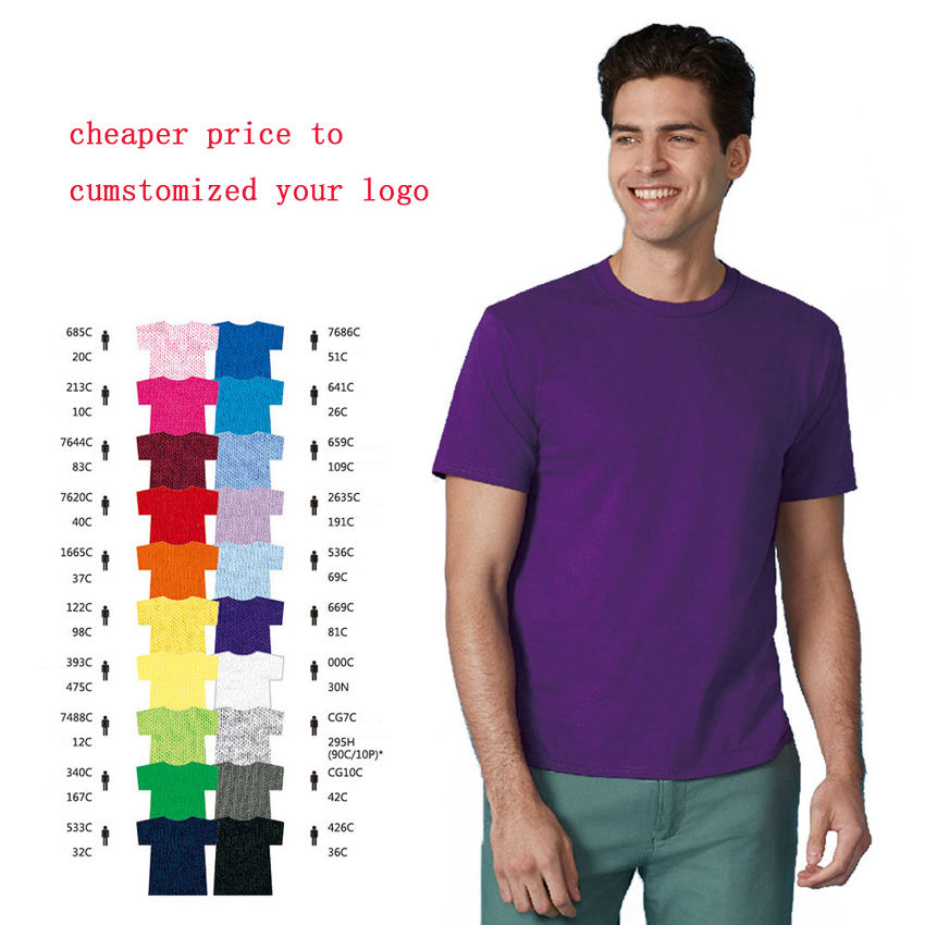 China round neck 100% cotton or polyester cheaper plain t shirts for men or woman with logo custom logo printed