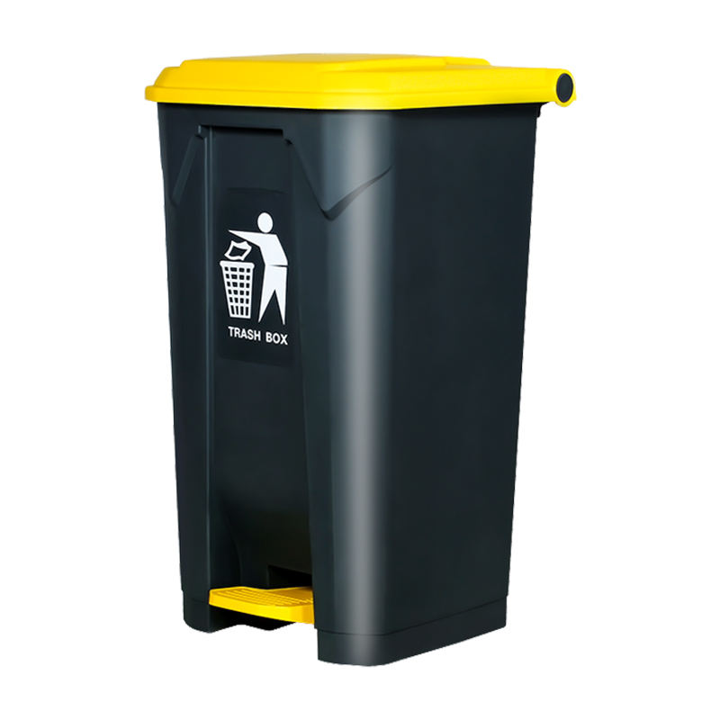 HDPE Plastic trash can 30 50 80 100liter with pedal waste bin for sale