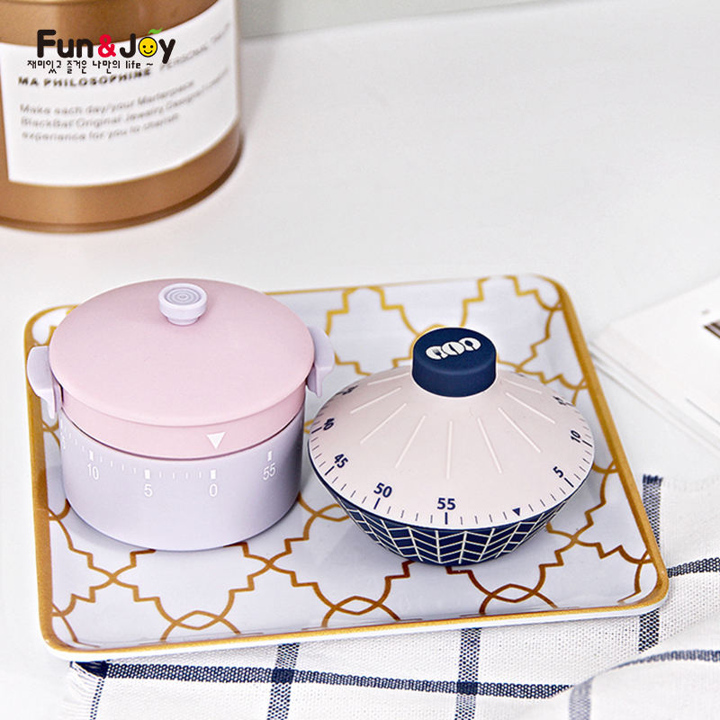 Cute kitchen Timer Student Manage Time Kitchen Alarm Clock Pot Design 60 Minutes Kitchen Mechanical Countdown Timer