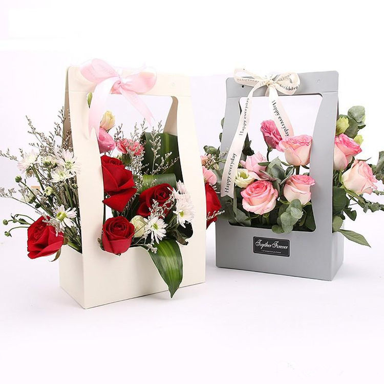 Hand Held Flower Packing Gift Box Waterproof Flower Boxes For Party Wedding