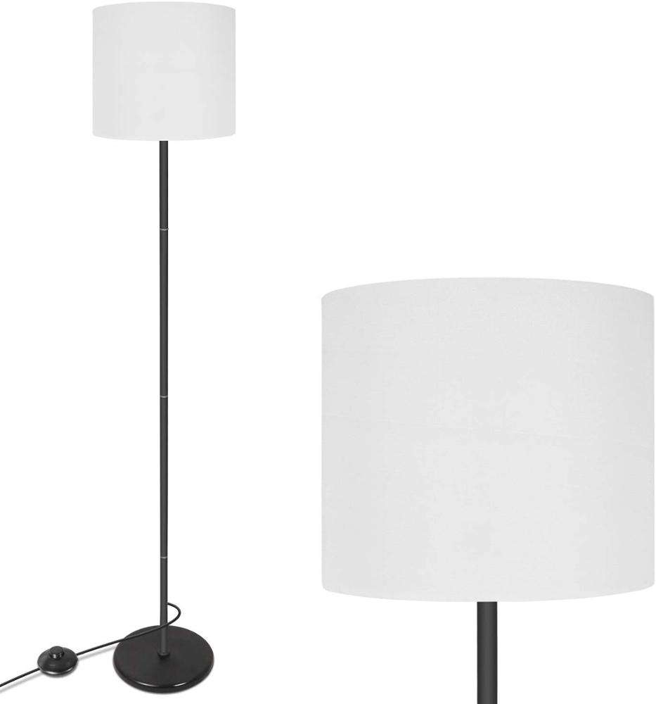 Simple Design Modern Standing Lamp White with Hanging Lamp Shade