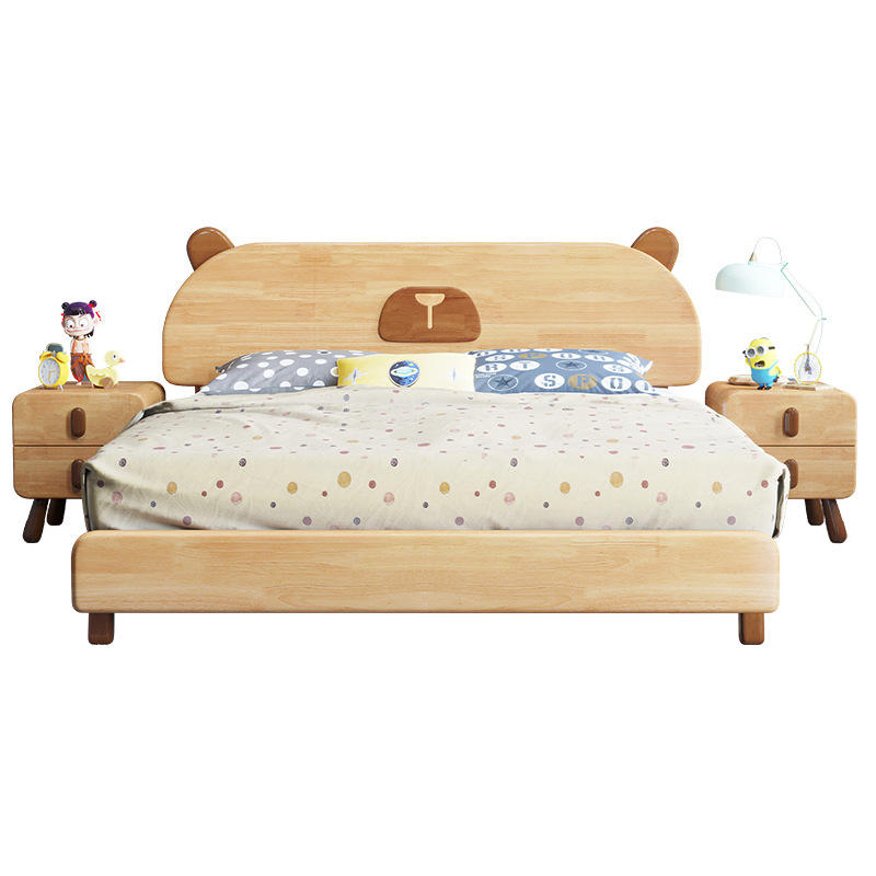Hot Sale Bedroom Furniture Single Children Solid Wood Bed New Design Kids Bed