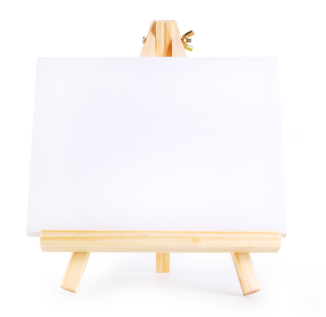 8*15cm high quality Mini easel With Canvas for kids solid wood easel canvas small easel