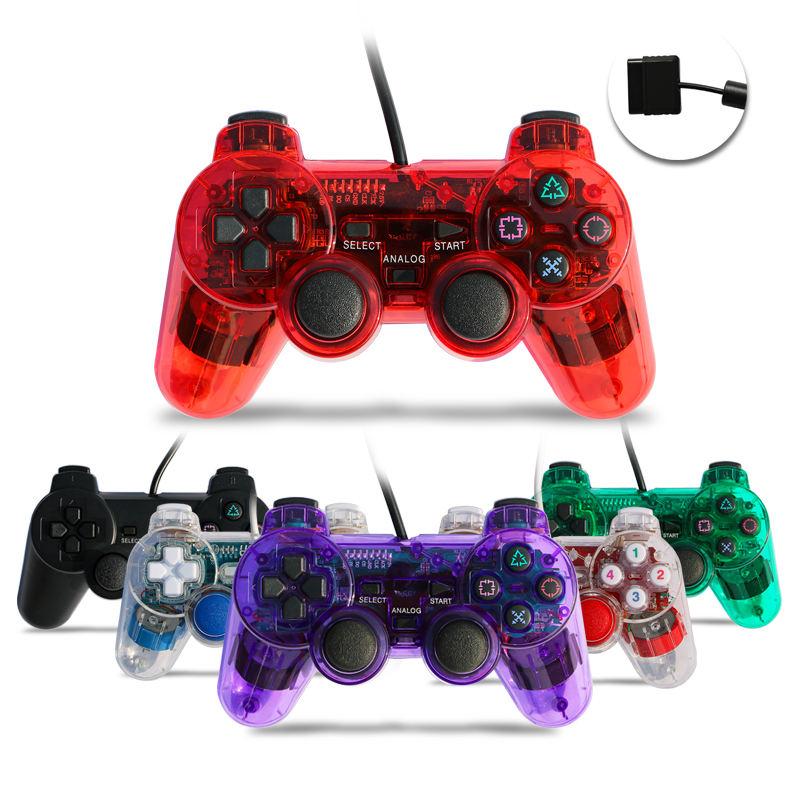 Wired Vibration Gamepad Wireless video Game PS2 controller for Playstation 2 joystick
