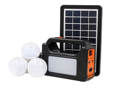 Fashion design rechargeable sun power generator portable solar power lighting system with battery inside and solar panel bulbs