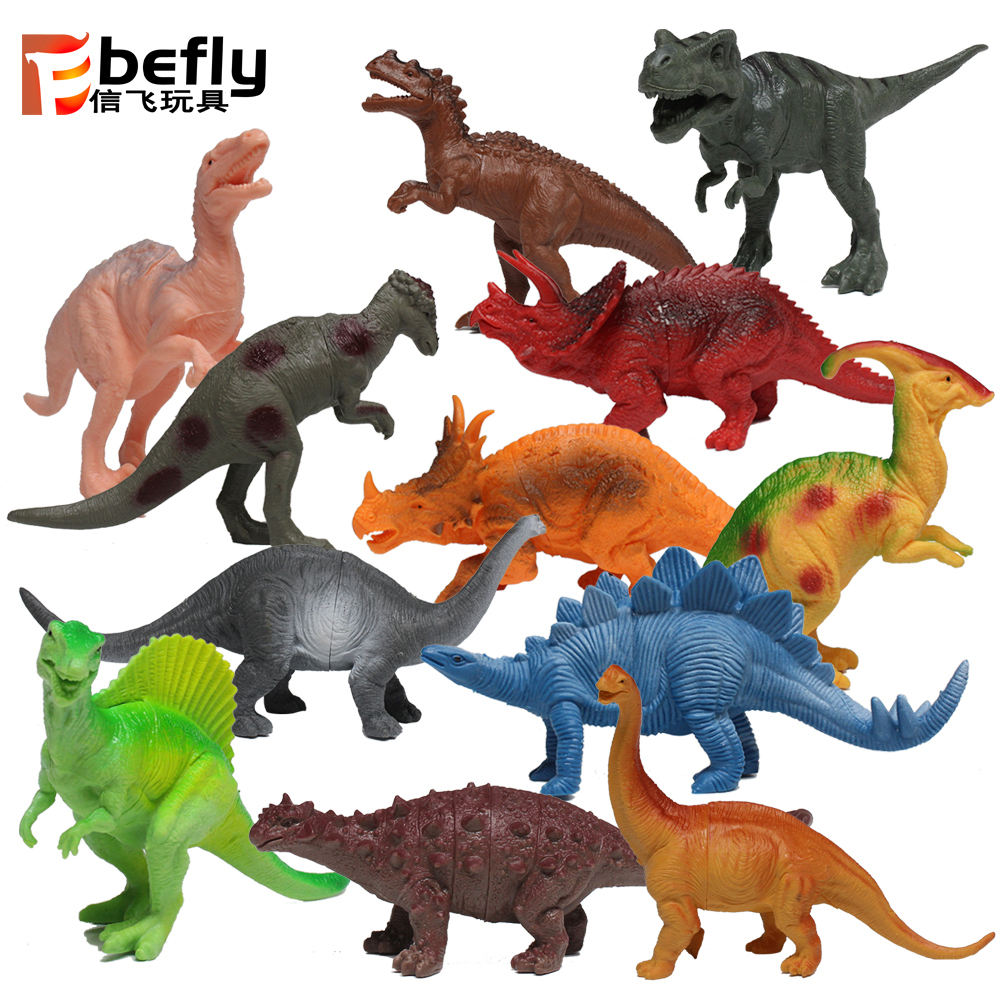 12pcs ECO plastic toy dinosaur 3d model for kids play