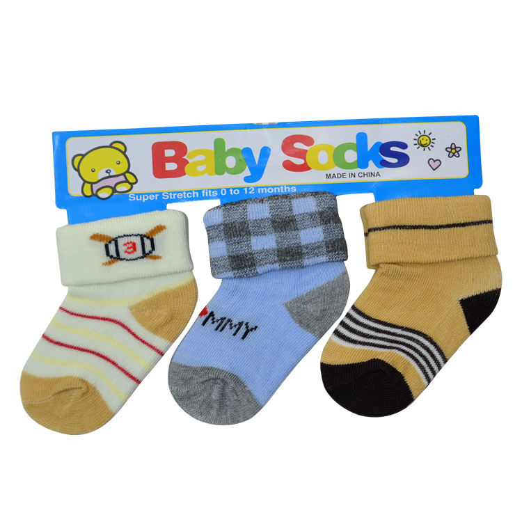 New cute winter baby boys socks 3 pairs set in stock from manufacturer