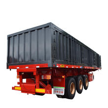 Cheap price made in Wosheng 12 tire 3 axle flat bed side dump truck trailer