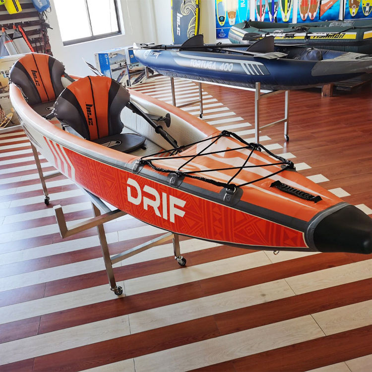 One person seat used kids pacific extreme drop stitch inflatable whitewater paddle sea kayak