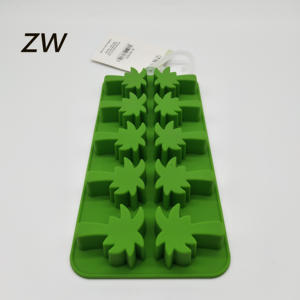 ZW FDA LFGB DIY 3D New design item promotion coconut shape cake ice cube chocolate mold