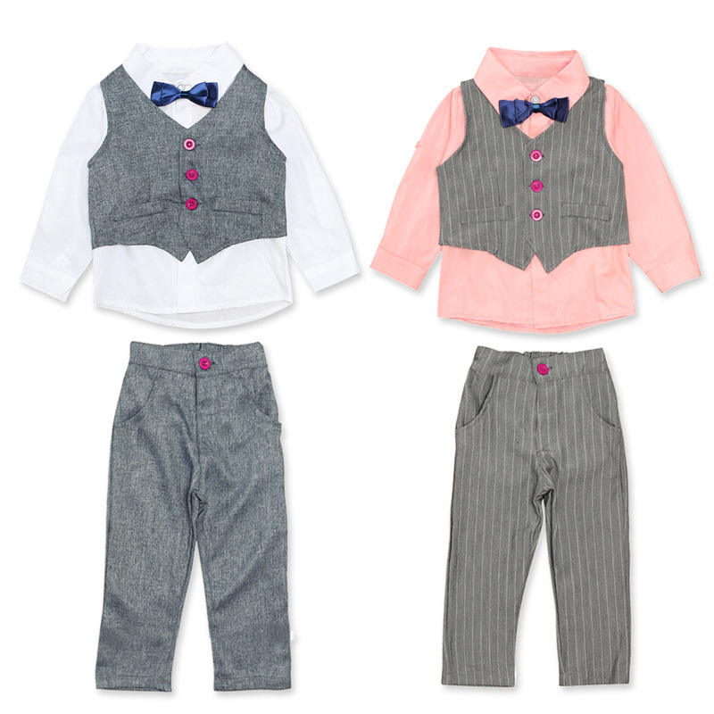 Cute Twin Beautiful Big Boy Clothes Funny Boutique Two-Piece Suit Ripped Jeans Children Clothes Boys Clothing Sets