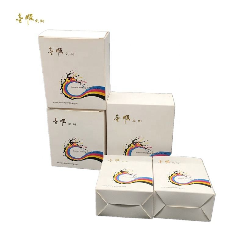 free sample custom logo printed 300 350 gsm plain packaging box low MOQ available in stock for sale retail sell