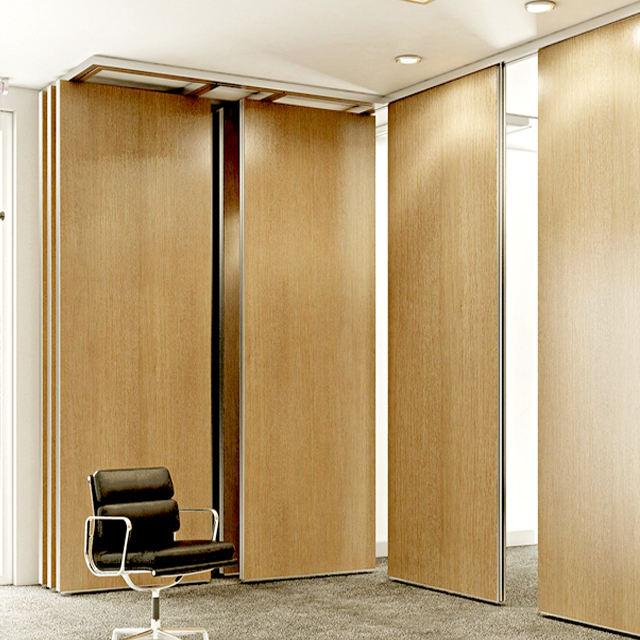 Simple office design sliding folding office partition door for exterior