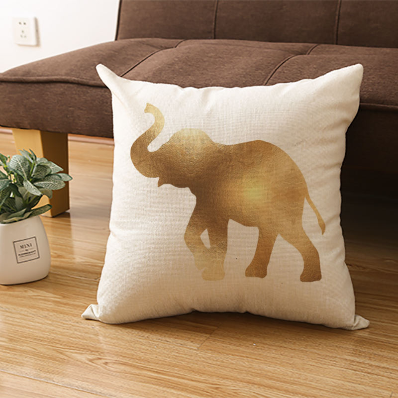 Gold Foil Print Throw Pillow Covers Modern Decorative Soft cushion Covers