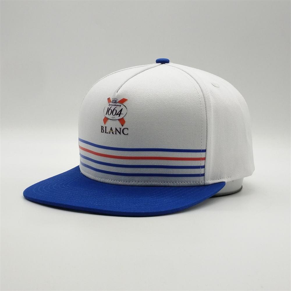 Unisex Kronenbourg-Blanc Snapback Hat Summer Cap Hip Hop Caps
