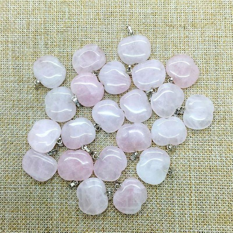 Natural Stone Bead Pendant Apple Shape Charm Necklace Jewelry For DIY Girl Woman Cute Jewelry Earrings