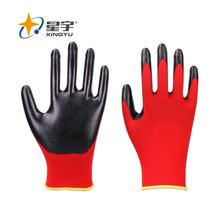 XINGYU Wholesale Red Polyester Nitrile Coated Construction Cheap Work Welding Gloves
