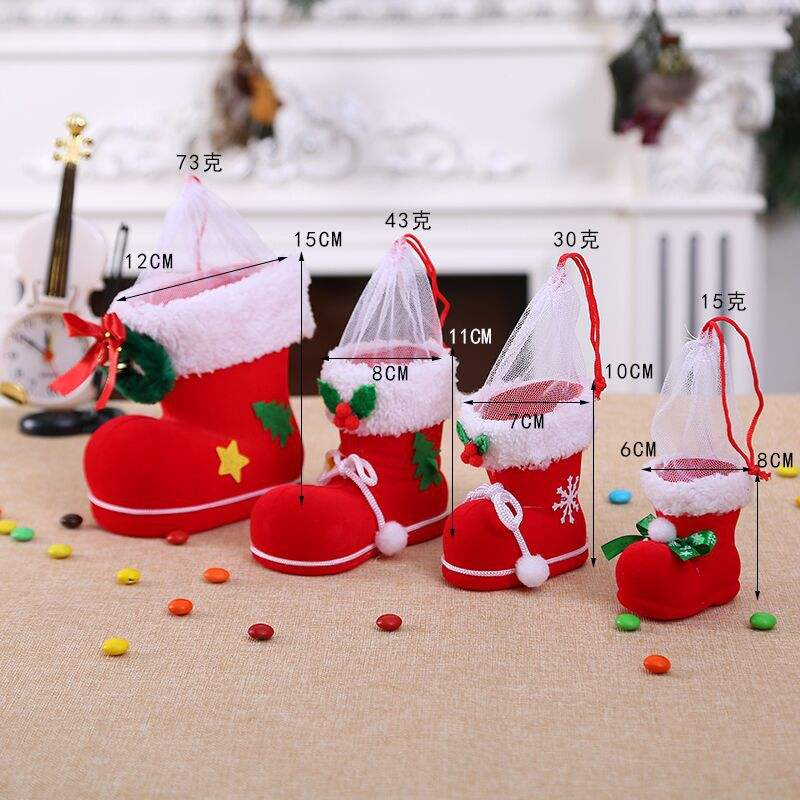 Snow Fragments Christmas Stockings Socks Bag Snowflake Custom Red Ornaments Stocking Box Assorted Organic Cotton Set