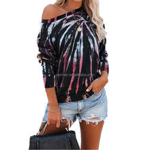 2020 Newest Autumn off shoulder t shirt women long sleeve women's t-shirts