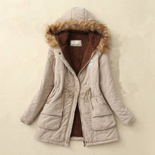 2019 casual thick winter Jacket women parka jacket with warm wool lining fur collar