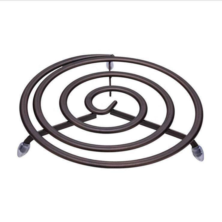 Hot Selling Cast Iron Trivet Kitchen Table Heat Resistant Bronze Cooking Mat Cake Cooling Rack Trivet