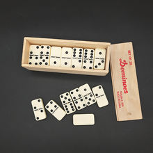 custom logo colored double nine mexican train dominoes game set