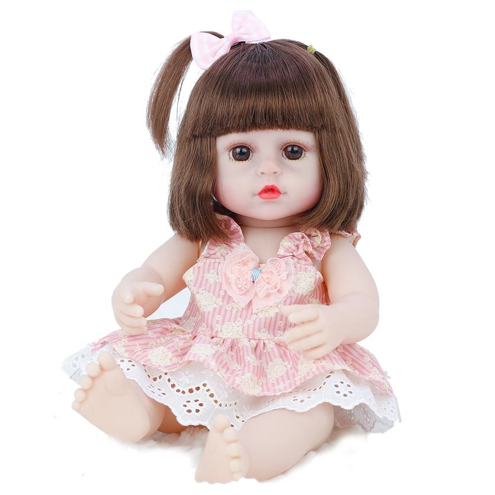 15 Inches Good Quality Cheap Price Realistic Full Soft Silicone Lovely Reborn Baby Doll