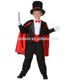Onbest China supplier black&red unique magician dress halloween&carnival career costume with hat for kids