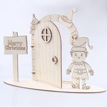 Wooden Craft Kit Plain Blank Open Stand Opening Stand Fairy Door Opening fairy door with stand
